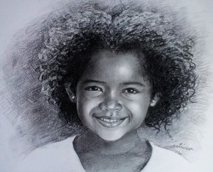 Black young girl
